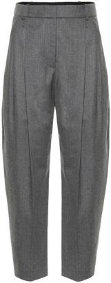 Stella McCartney High-rise carrot-leg wool pants