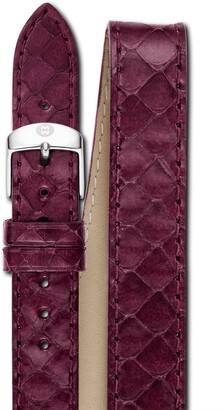 Michele 18mm Genuine Snakeskin Double Wrap Watch Strap