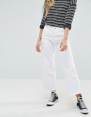 Pepe Jeans Cropped Kick Flared Jeans-Blue