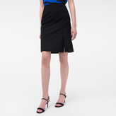 Paul Smith Women's Black Textured Cotton-Blend Skirt