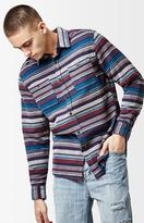 Katin Hitch Striped Flannel Long Sleeve Button Up Shirt