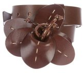 Michael Kors Flower-Accented Leather Belt
