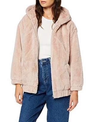 New Look Petite Women's P Frankie Fur Hooded Bomber Jacket,(Size:)