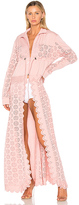 Fenty by Puma Tricot Zip Off Cape Jacket in Pink