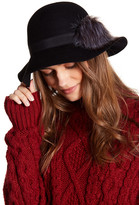 Collection XIIX Faux Fur Pompom Wool Floppy Hat