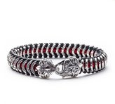 Scott Kay Men's Samurai Leather and Sterling Silver Bracelet - , 9 Inches