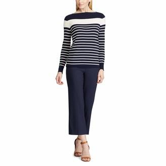 Chaps Women's Striped Cotton Modal Sweater
