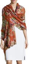 Gucci Cashmere-Blend Floral Geranium Stole