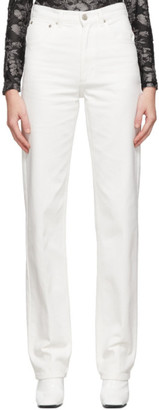 we11done White Straight-Leg Jeans