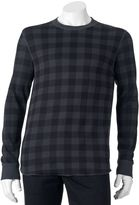 Croft & Barrow Big & Tall Checked Thermal Underwear Top