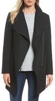Halogen Petite Women's Asymmetrical Zip Boiled Wool Blend Coat