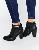 Faith Brooke Leather Heeled Ankle Boots