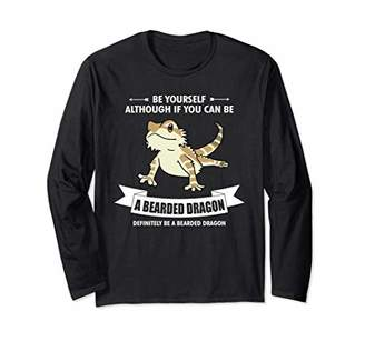 Dragon Optical Always Be Yourself Bearded Mom Dad Long Sleeve T-Shirt