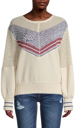 Free People Knitted Cotton-Blend Pullover