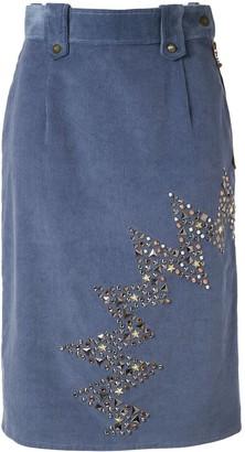 Kolor stud-embellished corduroy skirt