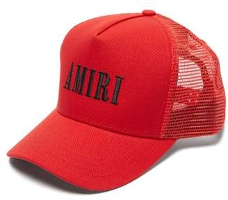 Amiri Logo-embroidered Canvas Cap - Mens - Red
