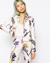 Asos Textured Large Floral Blazer Co-ord