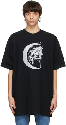 Vetements Black Star Girl T-Shirt
