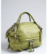 Oryany olive green pebbled leather 'Holly' convertible satchel