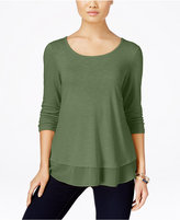 Style&Co. Style & Co. Chiffon-Hem Top, Only at Macy's
