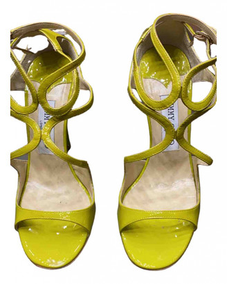 Jimmy Choo Lance Yellow Patent leather Sandals