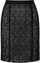 Stretch-lace pencil skirt