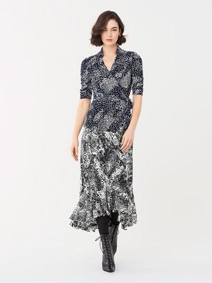 Diane von Furstenberg Abigail Silk-Jersey Wrap Top