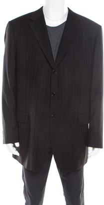 Guy Laroche Black Wool Three Button Luigi Sturzo Blazer 4XL