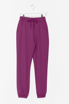 Nasty Gal Womens It'll Work Out High-Waisted Joggers - Purple - XL