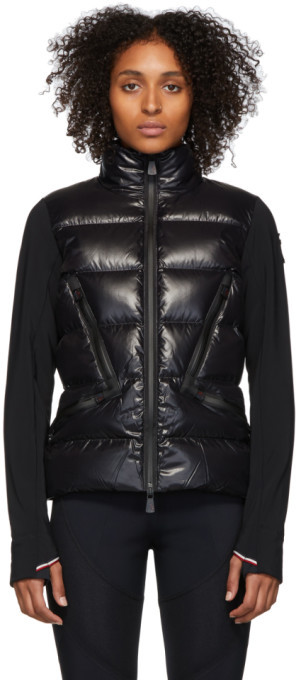 MONCLER GRENOBLE Black Down Maglia Jacket