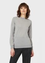 Emporio Armani Crew-Neck Sweater In Cob Stitch Pure Virgin Wool