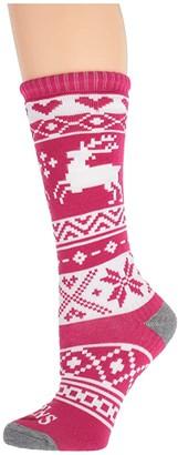 Hot Chillys Kids Santa Baby Mid Volume Sock (Toddler/Little Kid/Big Kid) (Santa Baby/Cranberry) Kids Shoes
