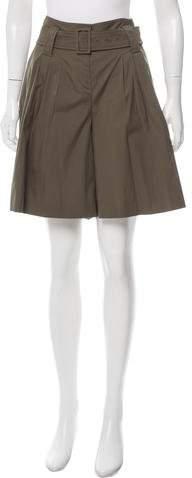 Prada Knee-Length Wide-Leg Shorts
