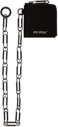 Off-White Black Logo Zip Chain Wallet
