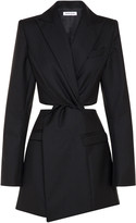 Anna Quan Chiara Cutout Wool Mini Dress