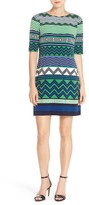 Eliza J Geometric Print Jersey Shift Dress