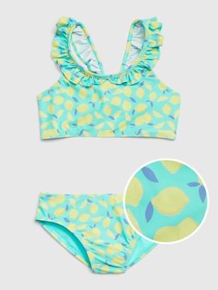 Gap Kids Ruffle Lemon Swim Two-Piece