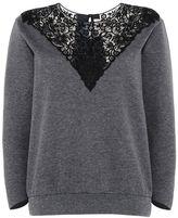 Stella McCartney lace embroidered sweatshirt