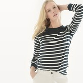 La Redoute Collections Organic Cotton Breton Stripe T-Shirt with Long Sleeves