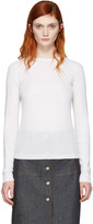Carven Ivory Ribbed Pullover