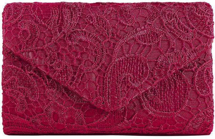 Jubileens Women's Elegant Floral Lace Envelope Clutch Evening Prom Handbag Purse