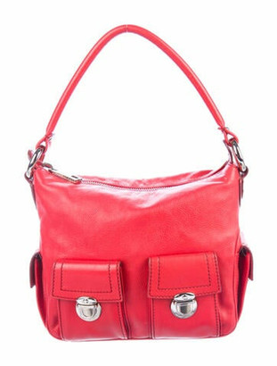 Marc Jacobs Leather Multi Pocket Shoulder Bag Red