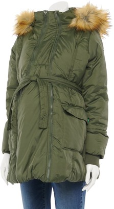 Modern Eternity Maternity 3-in-1 Mid-Thigh Puffer Coat