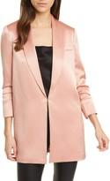 Alice + Olivia Jace Shawl Collar Long Satin Jacket