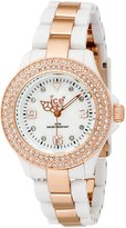 Ice Watch Ice-Watch Women's ST.WE.S.P.09 Stone Collection and Gold Plastic Watch