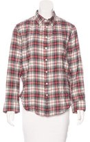 Band Of Outsiders Plaid Button-Up Top