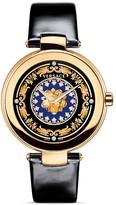 Versace Mystique Foulard Round Rose Gold PVD Watch, 38mm