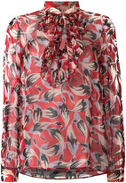 No.21 pussy bow floral blouse - women - Silk - 42