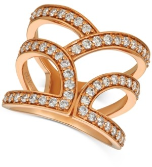 LeVian Le Vian Nude Diamonds Abstract Openwork Statement Ring (1 ct. t.w.) in 14k Rose Gold