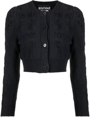 Boutique Moschino Rib-Trimmed Cotton Cardigan